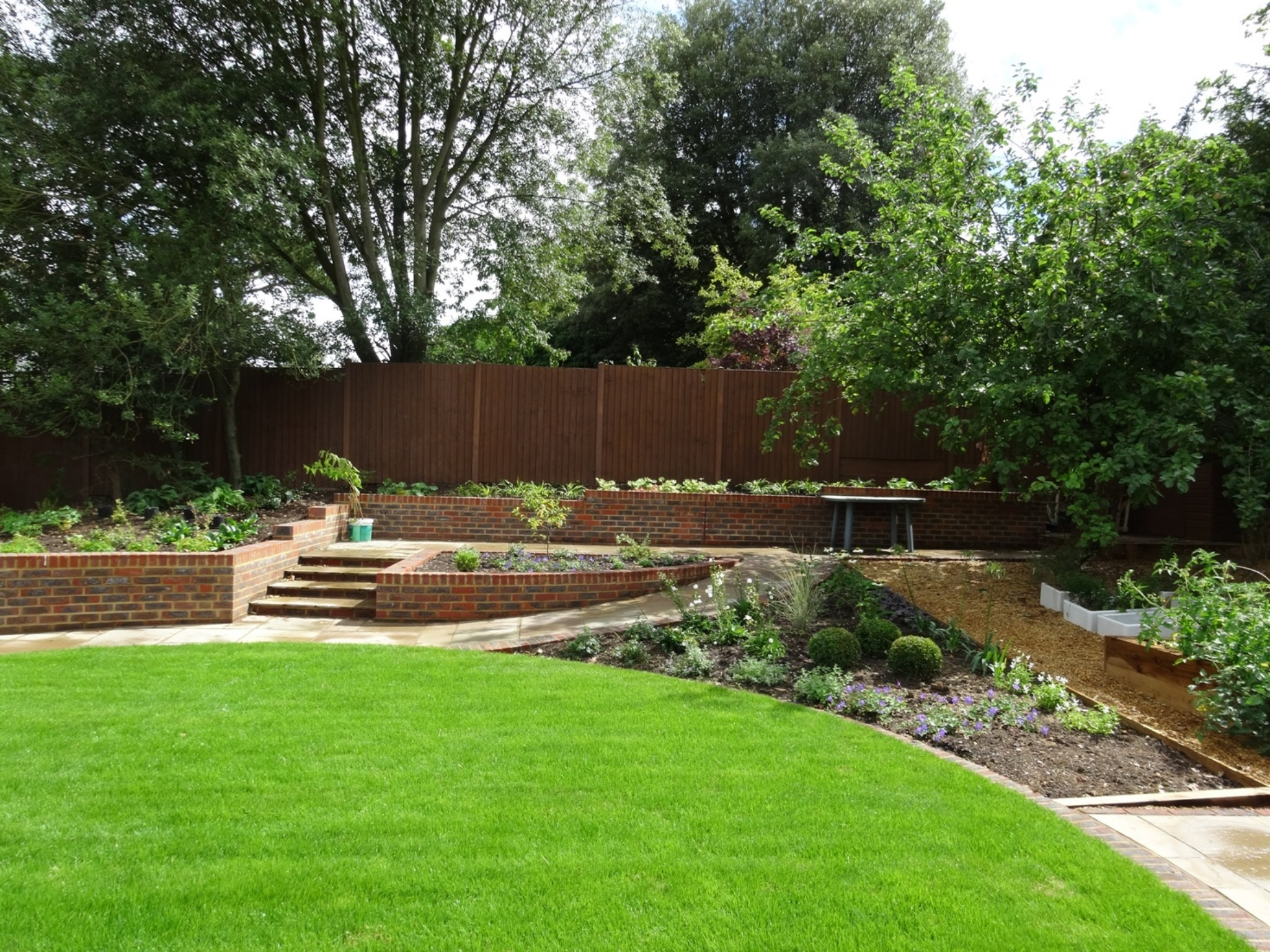 Garden Walls, Lawn & Planting